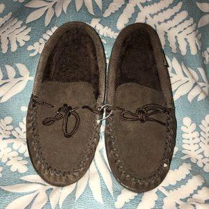 Bearpaw Suede & Fur Slippers
